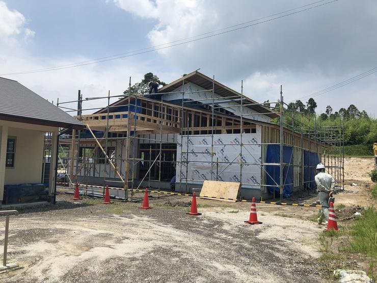 2019年7月26日指宿市の企業主導型保育所が上棟しました01