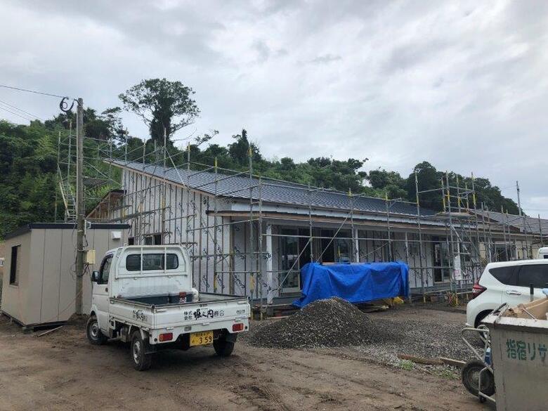 2019年7月26日指宿市の企業主導型保育所が上棟しました